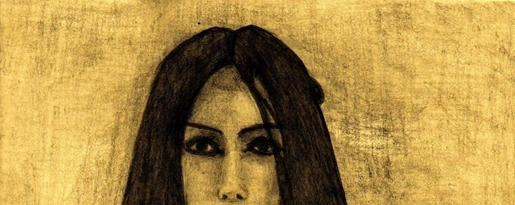 """Sara Schulz"". Dibujo al carbón por Fernando Lezama"