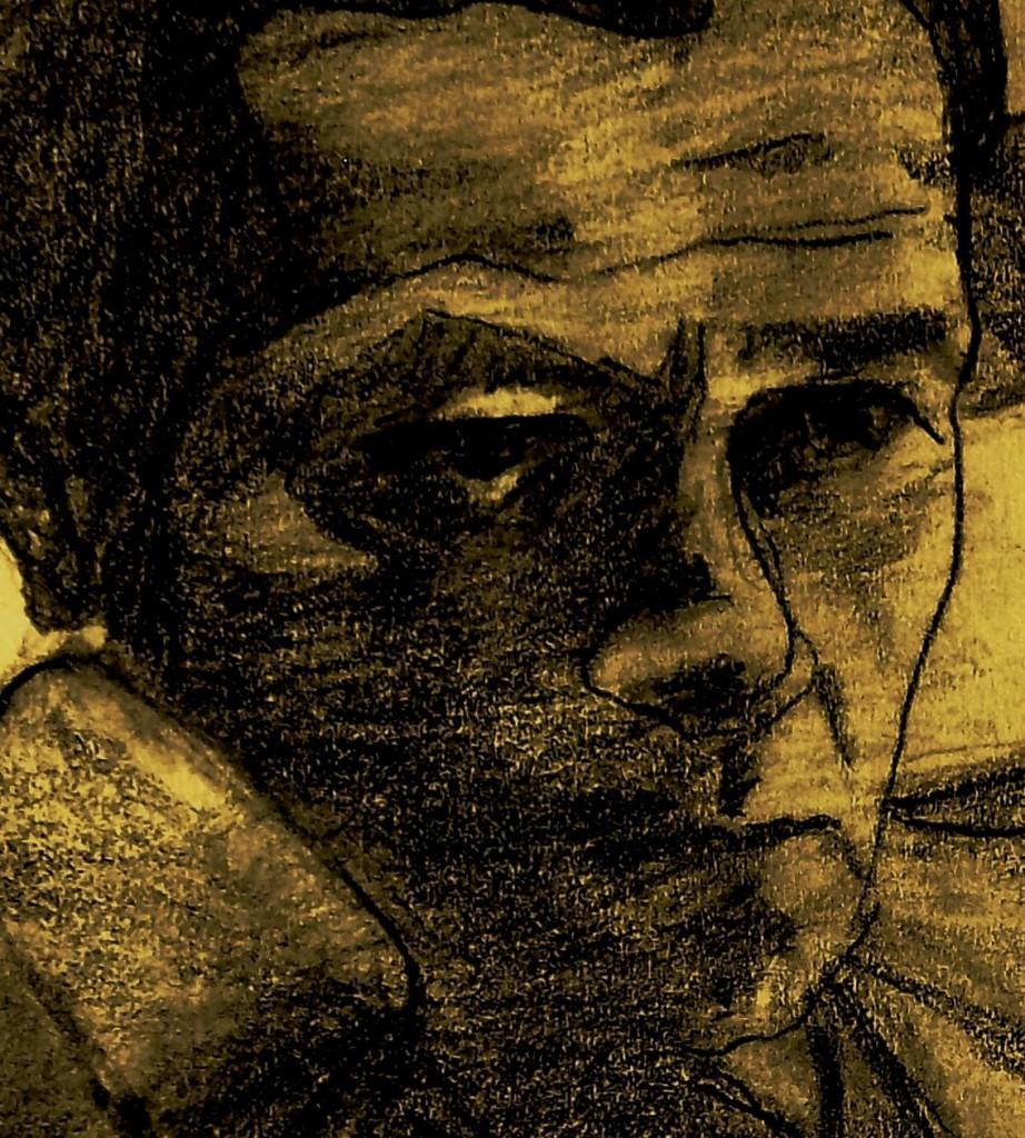 """""""Rulfo el oscuro"""". Ilustración por Fernando Lezama"""