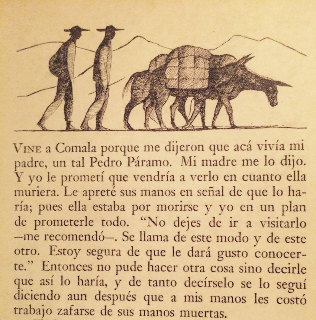 Primera página de Pedro Páramo publicada por el Fondo de Cultura Económica en 1955.