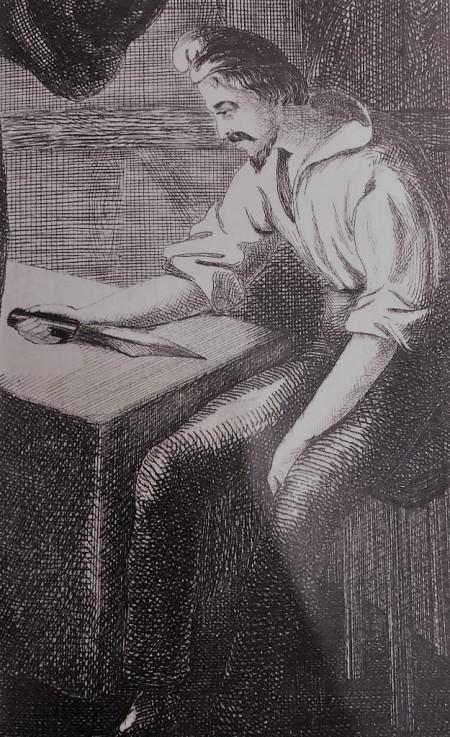 """""""Frontispice  de l´ouvrage de Pétrus Borel"""". 1831"""