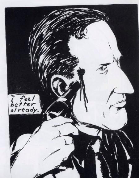 Dibujo de Raymond Pettibon